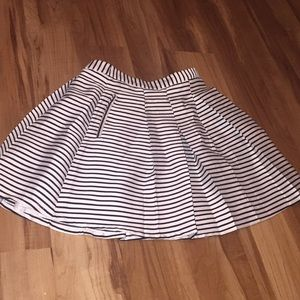 F21 Stripe Circle Skirt w/ POCKETS